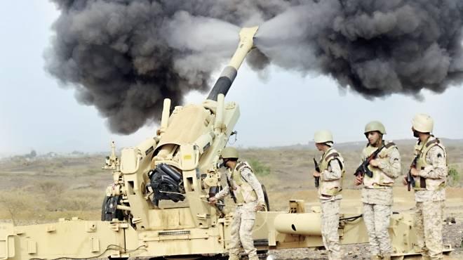 قوات سعودية على حدود اليمن
