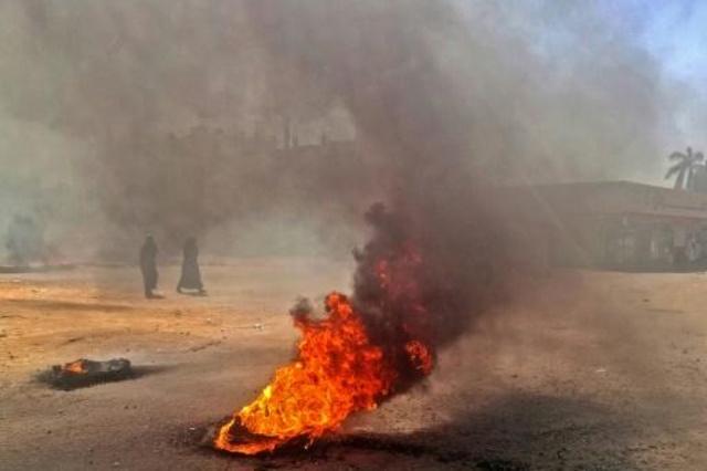 جانب من احتجاجات سابقة في الخرطوم
