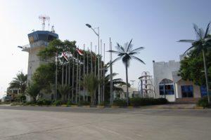 مطار الريان الدولي اليمني الذي تسيطر عليه القوات الإماراتية