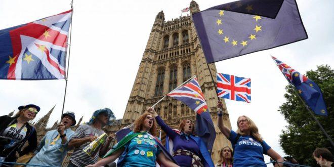 متظاهرون رافضون للخروج من الاتحاد الأوروبي في لندن