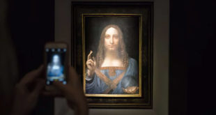"""لوحة """"المسيح المخلص"""" التي اشتراها الأمير محمد بن سلمان بأكثر من 450 مليون دولار"""