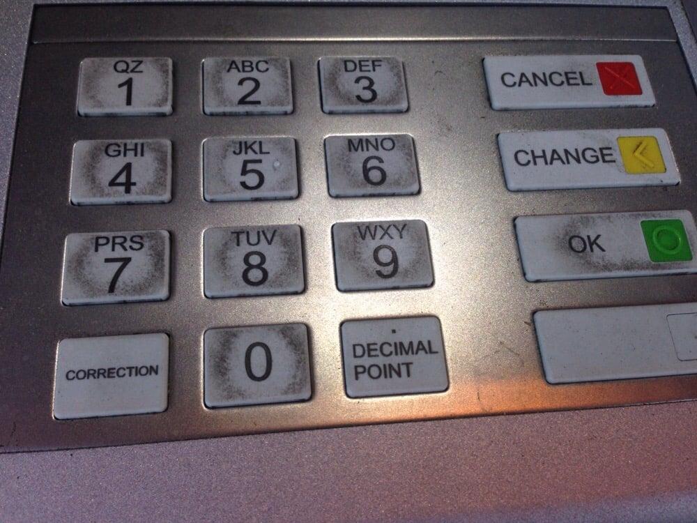 لوحات مفاتيح أجهزة الصراف الآلي أقذر من المراحيض العامة