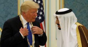 الملك سلمان أهدى ترامب قلادة ذهبية خلال زيارته للسعودية
