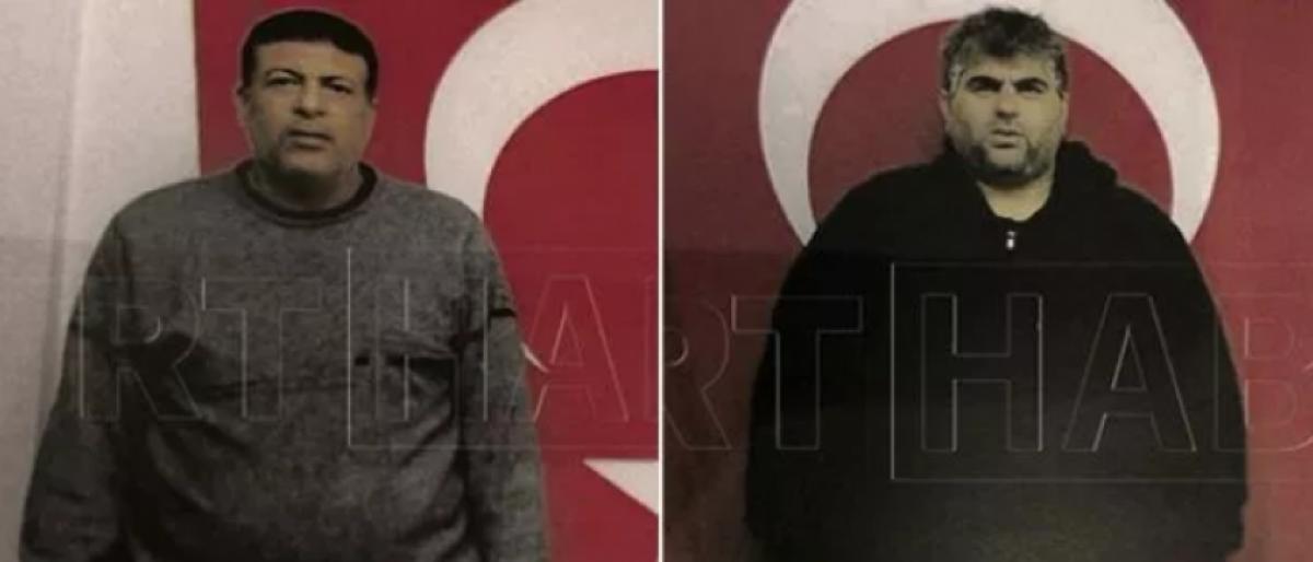الجاسوسان اللذان اعتقلتهما تركيا في إسطنبول (المنتحر يسارًا)