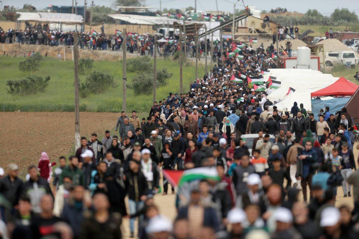 270 شهيدًا فلسطينيًا برصاص الاحتلال خلال عام من مسيرات العودة