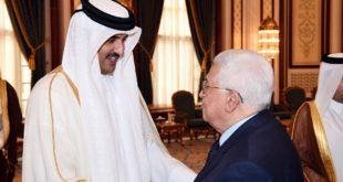 أمير دولة قطر والرئيس الفلسطيني