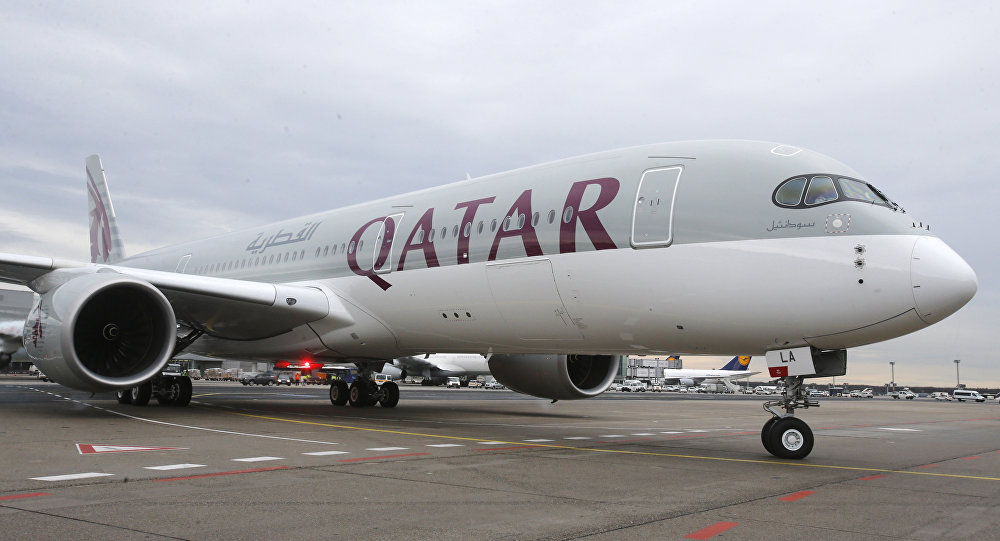 صورة صورة: طائرة أميرية قطرية تهبط في مطار جدة!