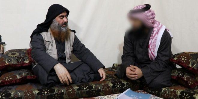 لقطة في فيديو زعيم تنظيم داعش السابق أبو بكر البغدادي