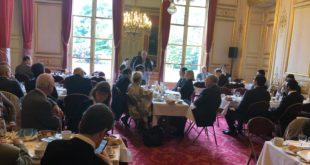 جانب من جلسة نقاش عقدت في مجلس الشيوخ الفرنسي عن مستقبل الخليج العربي