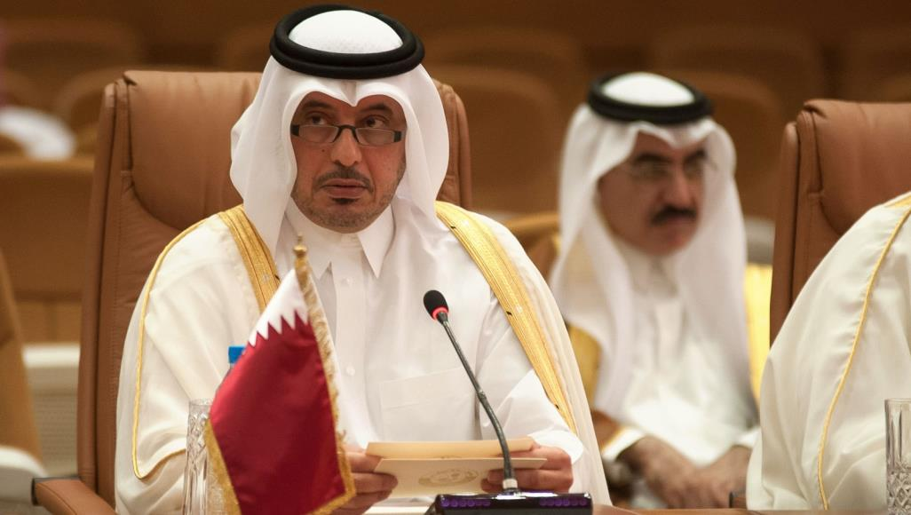 صورة رئيس الوزراء القطري في مكة لحضور القمة الطارئة