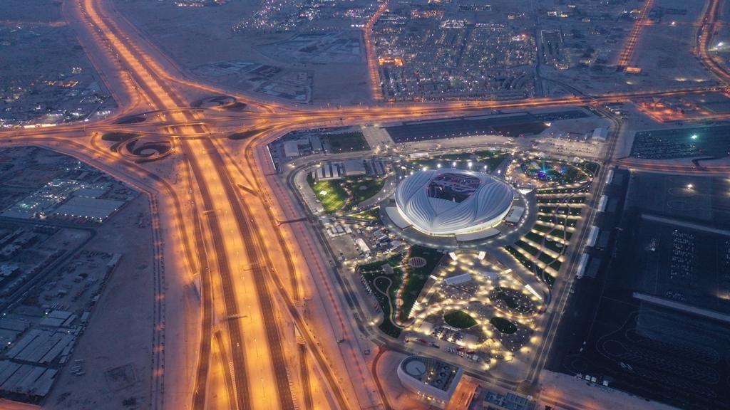 """صورة افتتاح مبهر لـ""""استاد الجنوب"""" المونديالي في قطر.. وهذا ما قاله الأمير تميم"""