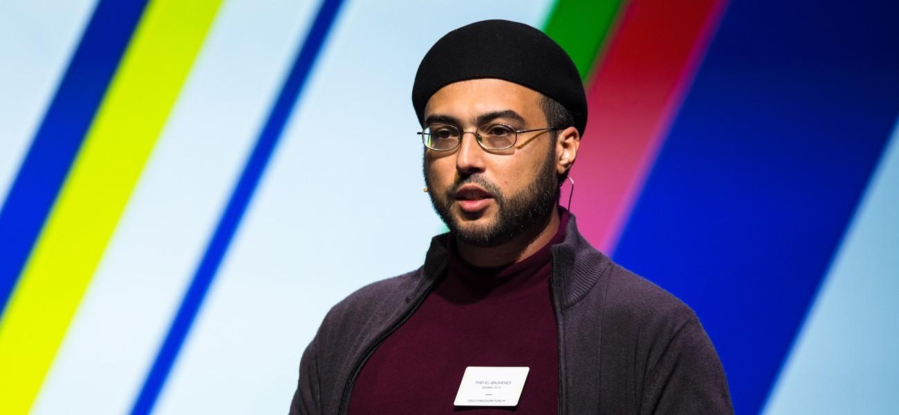 الناشط إياد البغدادي يعيش في النرويج منذ 4 سنوات