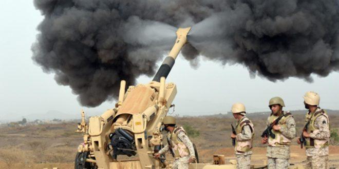 مدفع يستخدمه الجيش في السعودية ضمن الحرب في اليمن