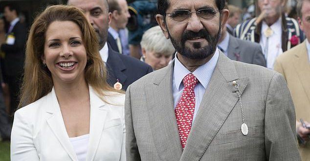 الشيخ محمد بن راشد حاكم دبي وزجته الأميرة هيا بنت الحسين