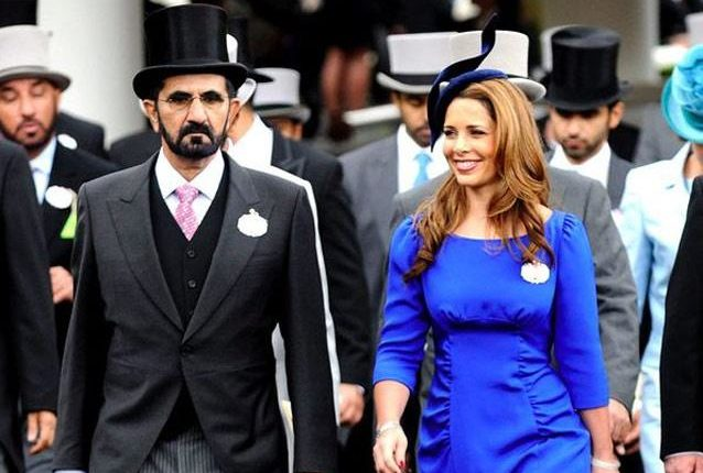 محمد بن راشد وزوجته الأميرة الأردنية هيا بنت الحسين