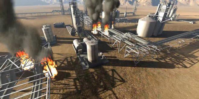 رسم ثلاثي الأبعاد لمنشأة النفط السعودية التي أعلن استهدافها الحوثيون شمالي الرياض وكشف مسؤولون أمريكيون أنها تمت من العراق
