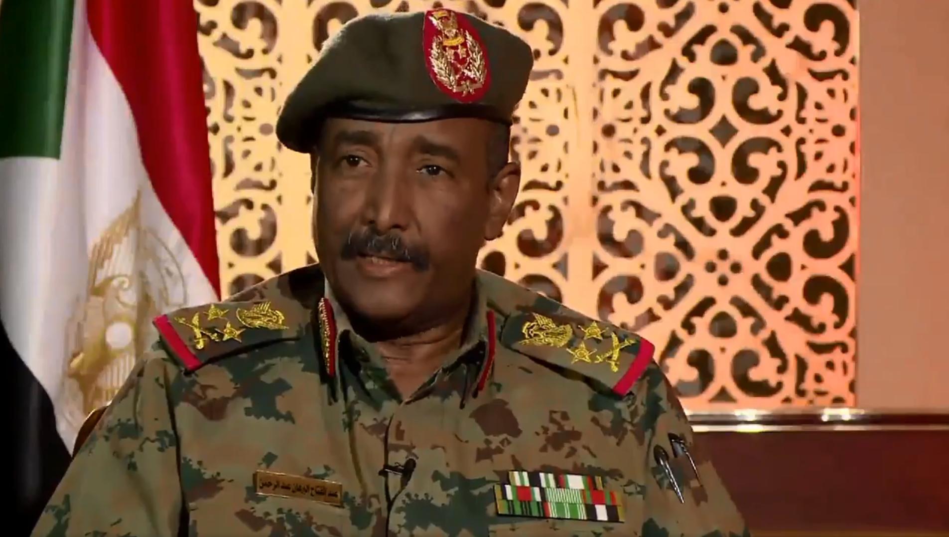 عبد الفتاح البرهان قائد القوات المسلحة السودانية ورئيس المجلس السيادي في السودان