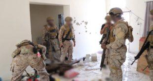 صورة نشرتها وكالة الأنباء السعودية لعملية اعتقال زعيم داعش في اليمن