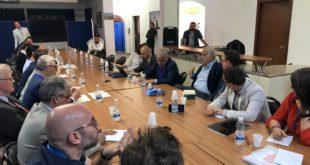 جانب من لقاء البعثة الدولية لتقصي الحقائق مع مبعوث الأمين العام للأمم المتحدة في ليبيا غسان سلامة