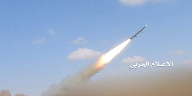 """صورة نشرتها جماعة الحوثي لصاروخ """"كروز"""""""