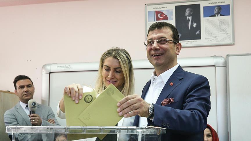 أكرم إمام أوغلو مرشح المعارضة الفائز بانتخابات بلدية اسطنبول