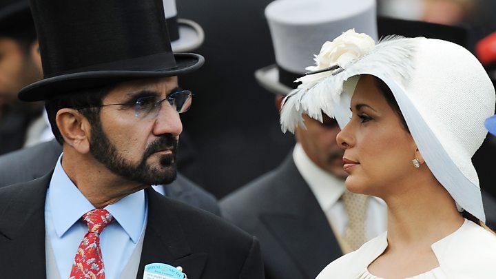 الأميرة هيا بنت الحسين وزوجها محمد بن راشد