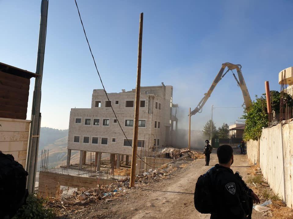 جانب من عمليات الهدم الإسرائيلية في القدس