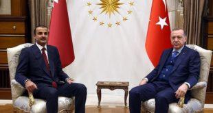 لقاء سابق بين الرئيس التركي وأمير قطر