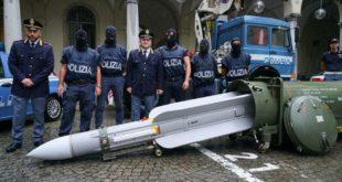 الصاروخ الذي عُثر عليه في إيطاليا