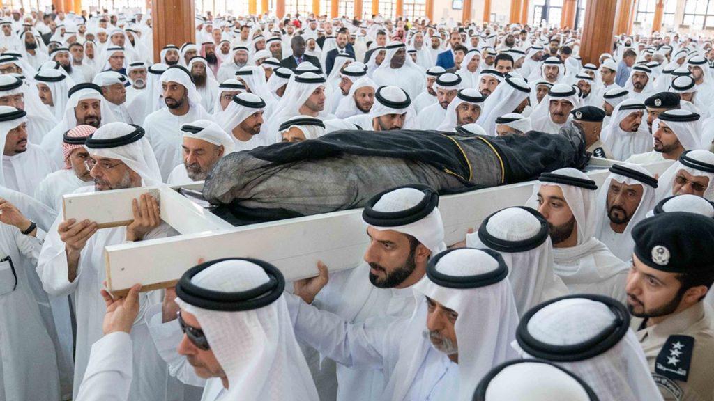 جانب من جنازة نجل حاكم الشارقة خالد بن سلطان القاسمي