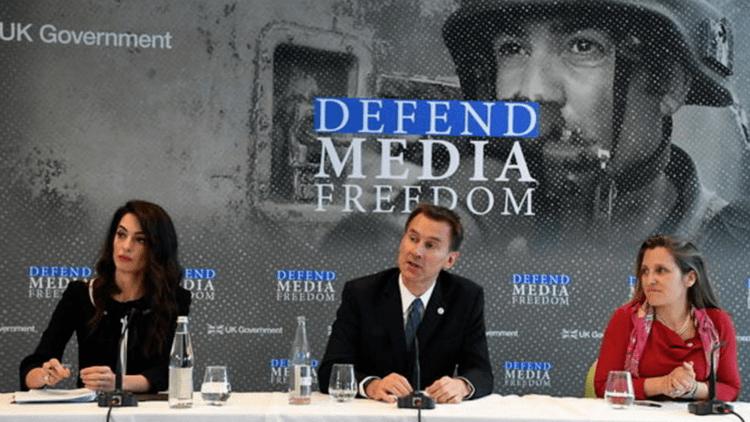 جانب من المؤتمر الدولي لحرية الإعلام في لندن