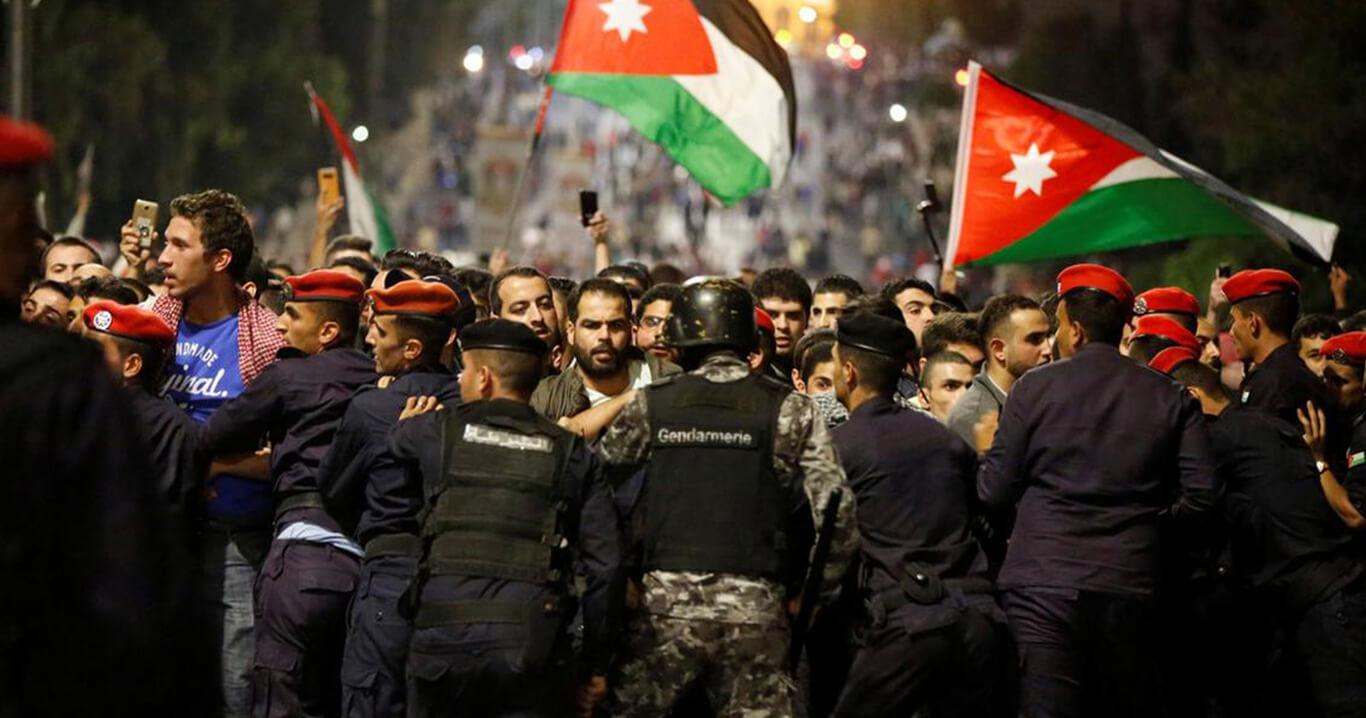 صورة الآلاف يحتشدون في عمّان ضد اتفاقية الغاز مع إسرائيل