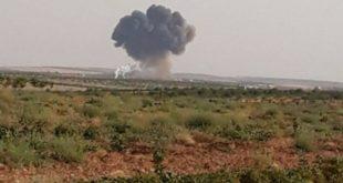 مكان سقوط مقاتلة نظام الأسد