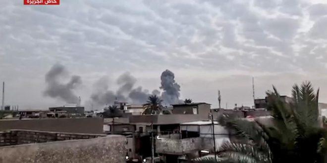 لحظة وقوع الانفجار في مستودع الحشد الشعبي جنوبي بغداد