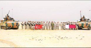 مناورة عسكرية مشتركة بين القوات التركية والقطرية في الدوحة