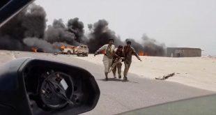 غارة شنتها طائرة إماراتية على قوات الجيش اليمني في عدن لدعم الانفصاليين