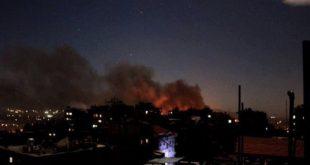 جانب من القصف الإسرائيلي على دمشق