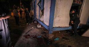 مكان أحد التفجيرين في غزة