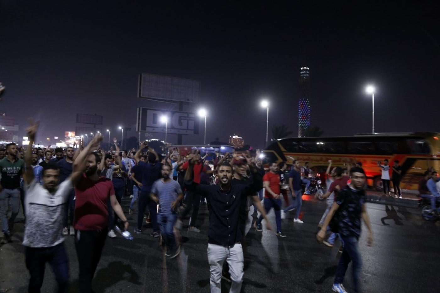 احتجاجات ضد الرئيس عبد الفتاح السيسي في مصر
