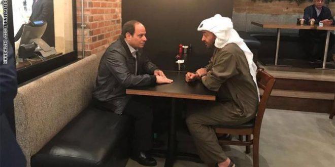 ولي عهد أبوظبي محمد بن زايد والرئيس المصري عبد الفتاح السيسي