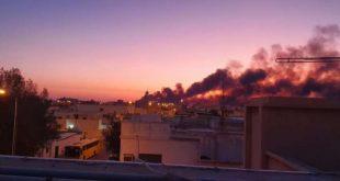 الهجوم أدى لاشتعال حريق كبير في معملي النفط