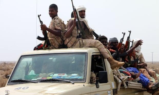 قوات سودانية في اليمن تحت قيادة التحالف السعودي