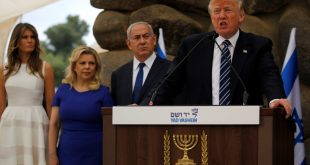 الرئيس الأمريكي دونالد ترامب ورئيس الحكومة الإسرائيلية بنيامين نتنيناهو وزوجتيهما