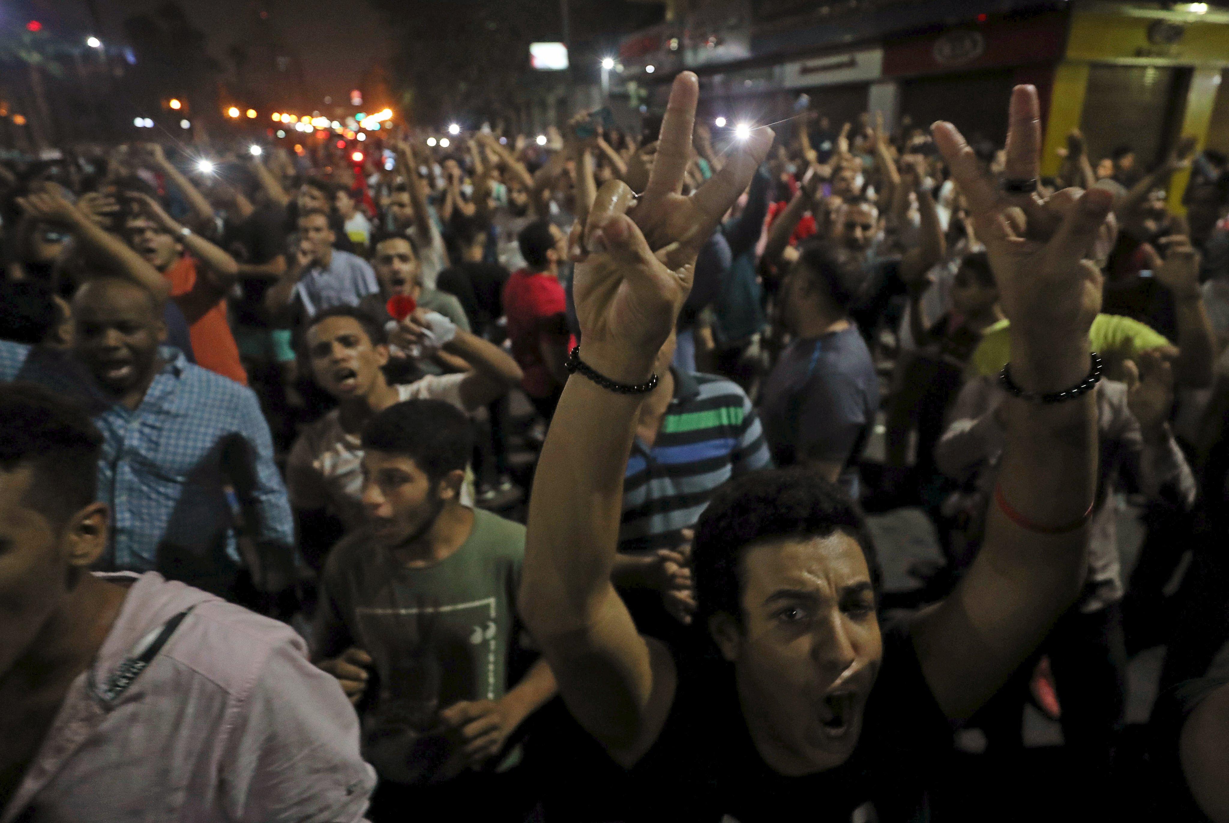 تظاهرة ضد السيسي في ميدان التحرير
