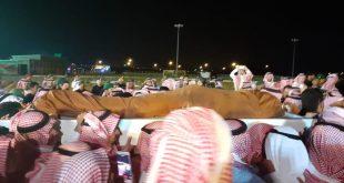 جانب من جنازة حارس الملك سلمان عبدالعزيز الفغم