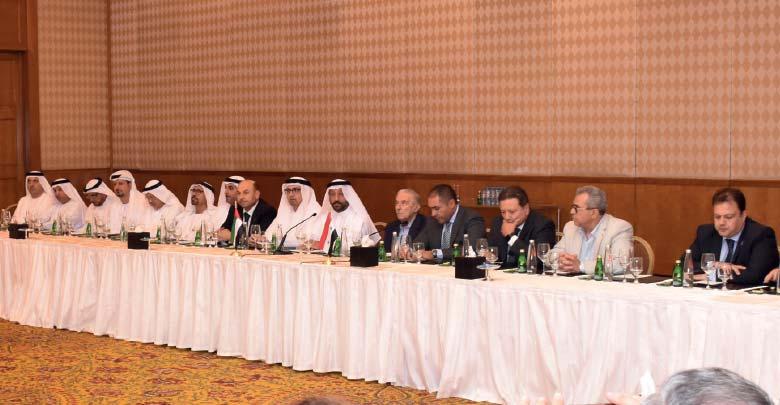جانب من زيارة رجال الأعمال الإماراتيين إلى دمشق