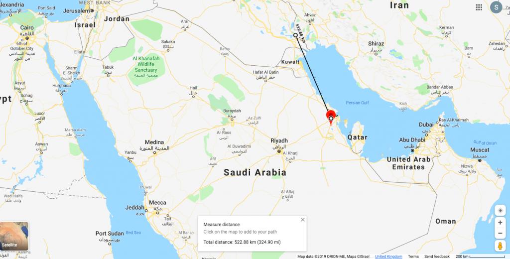 مسار الطائرات بدون طيار من جنوبي العراق إلى مواقع النفط في السعودية