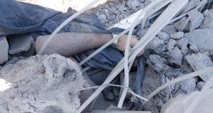 قتيل من قوات الشرعية تحت الأنقاض بفعل قصف مقاتلات التحالف