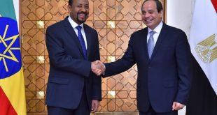 الرئيس المصري عبد الفتاح السيسي (يمين) ورئيس الوزراء الإثيوبي آبي أحمد