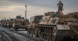 مدرعات تركية على الحدود مع سوريا